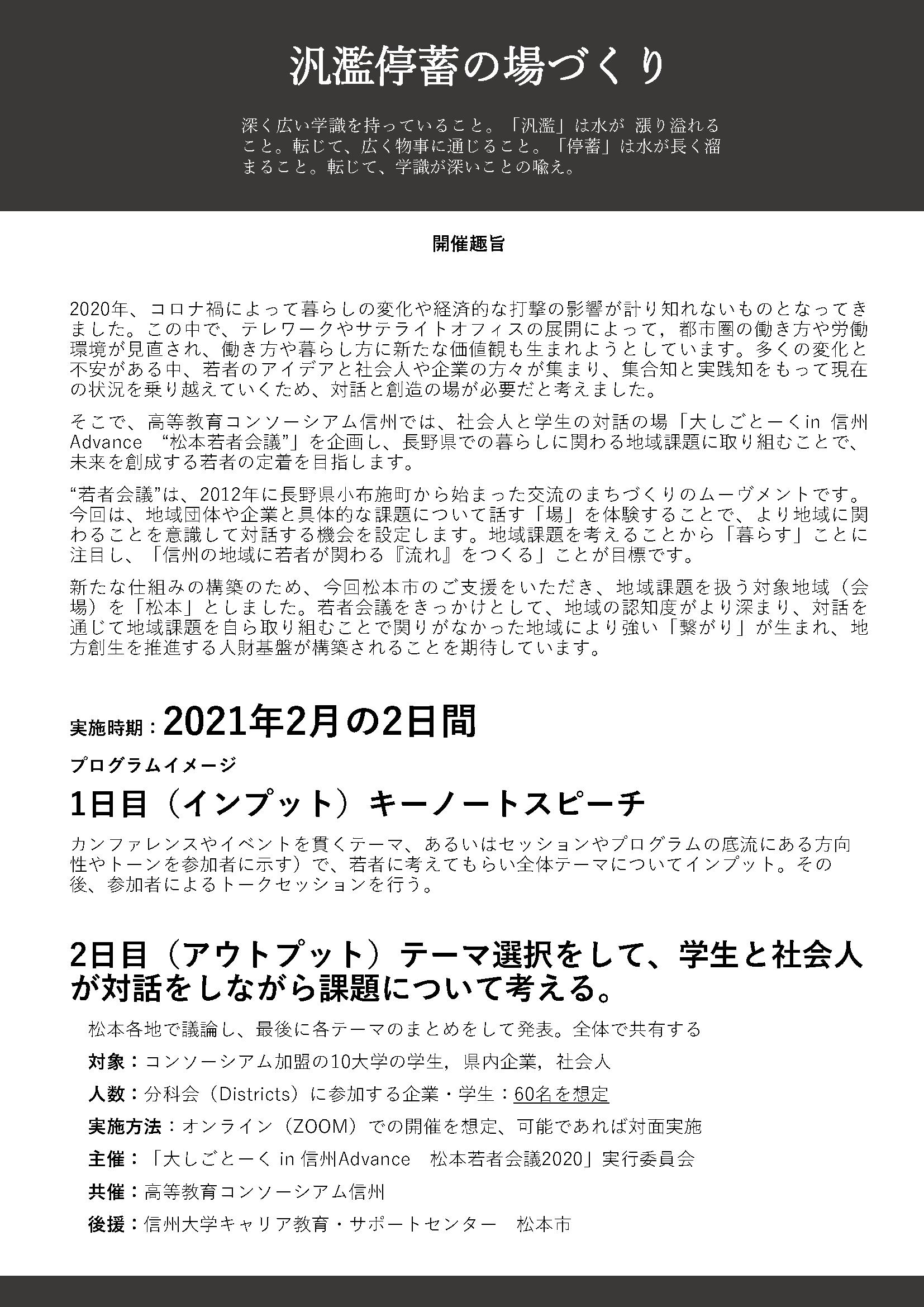 松本若者会議ポスター